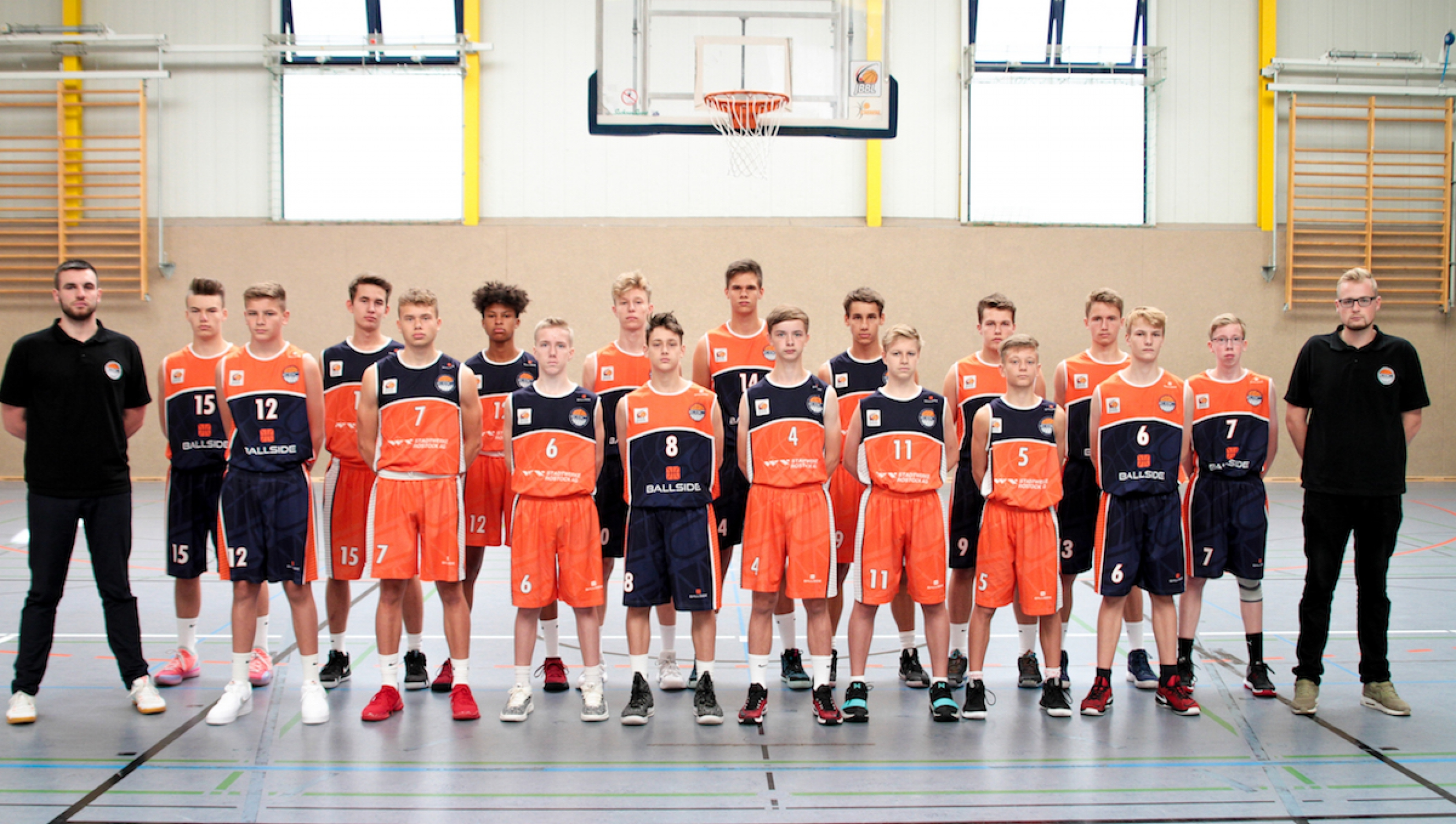 Mannschaftsfoto Rostock Seawolves Youngsters