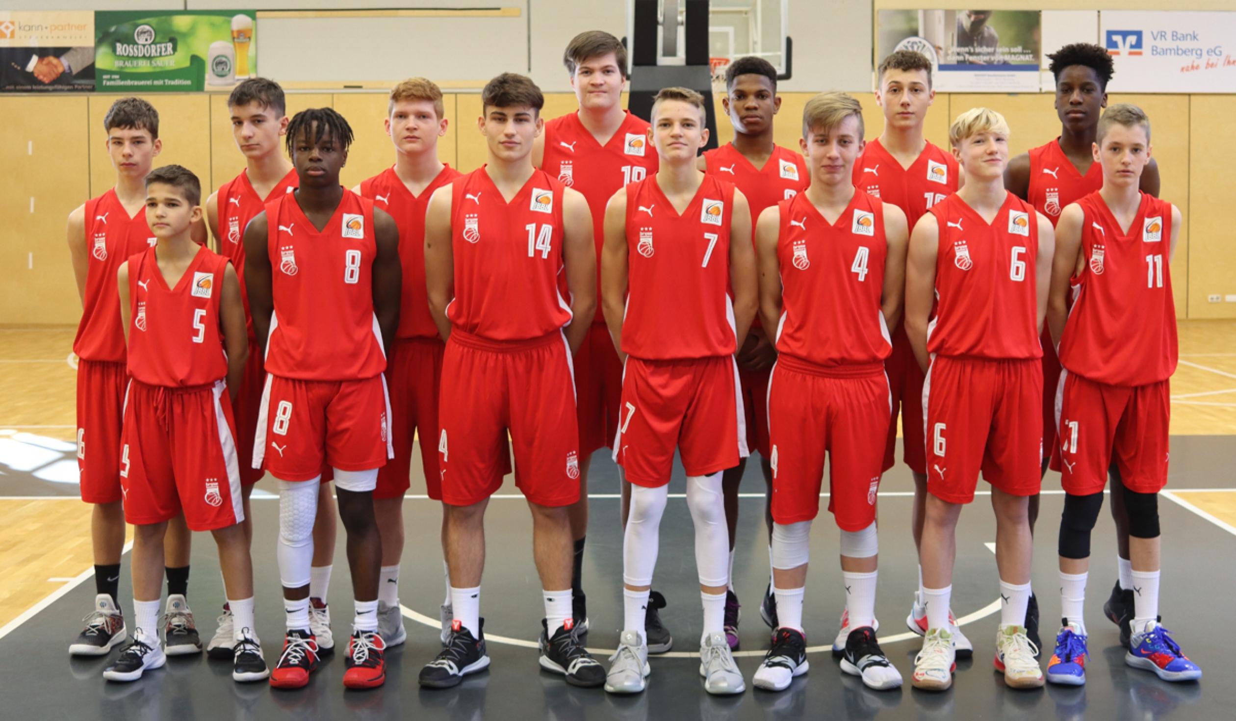 Mannschaftsfoto Brose Bamberg / Regnitztal Baskets
